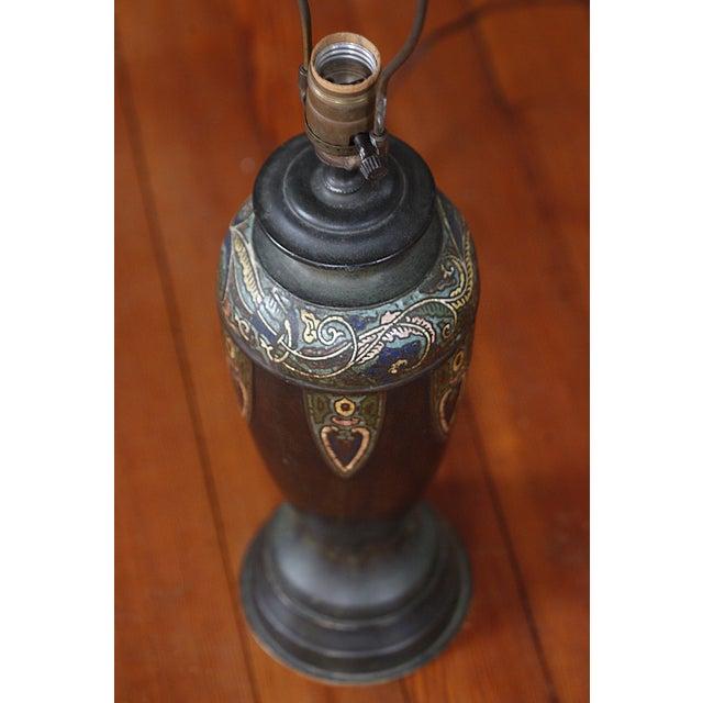 Vintage Cloisonne Lamps - Pair - Image 7 of 8
