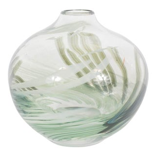 Gorgeous Handblown Urrere and Perkins Studios Art Glass Vase For Sale