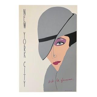 1982 b.b. La Femme Designs New York City Print Poster For Sale
