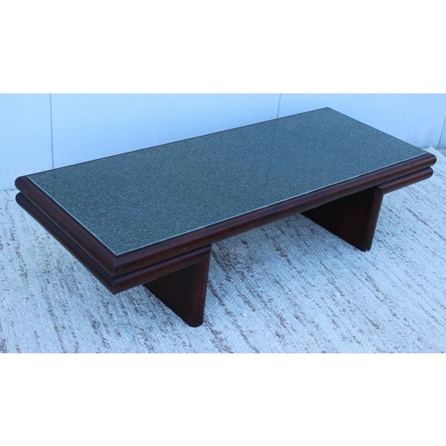 Rare 1950s, Harvey Probber design for Red Lion Furniture modern coffee table with resin top.