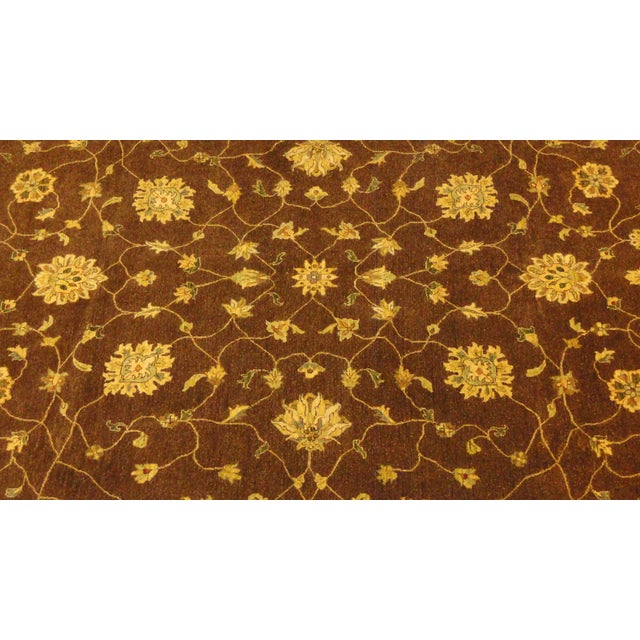 "Brown & Tan Floral Zeigler Rug - 9'2' x 12'5"" - Image 2 of 4"
