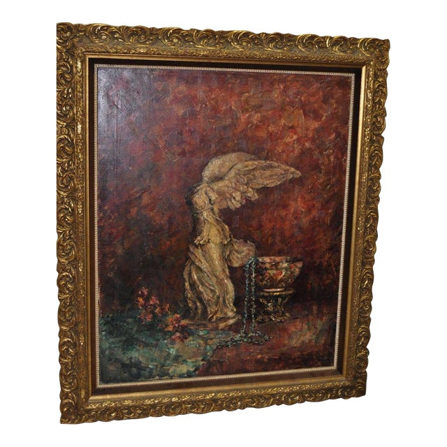 "Marie Weger ""Symbole of Culture"" Still Life Oil Painting C.1950s For Sale"
