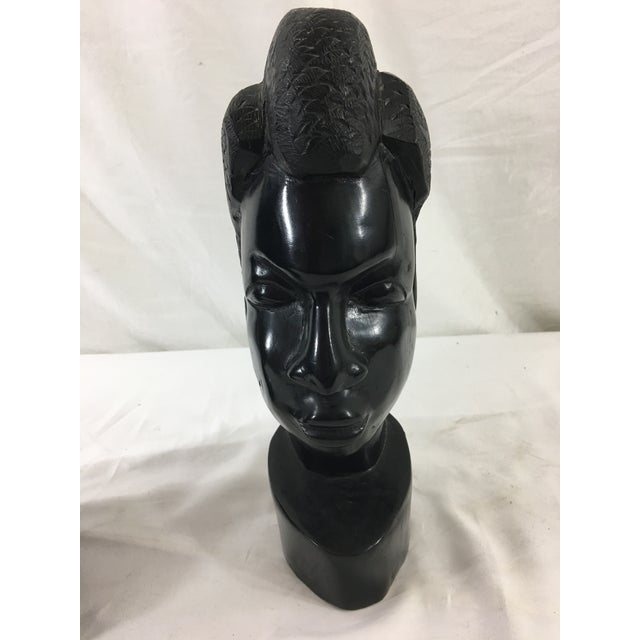 Carved Gabonese Ebonized Wood Figures - a Pair For Sale - Image 6 of 7