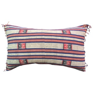 Naga Hill Tribe Woven Textile Pillow For Sale
