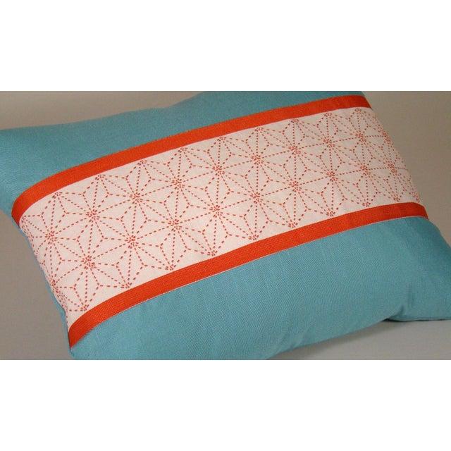 Japanese Sashiko Obi Pillow Cover For Sale - Image 4 of 9