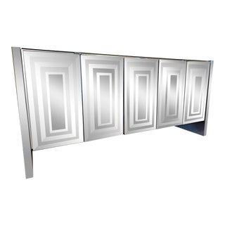 Mid-Century Mirrored Sideboard by Ello For Sale