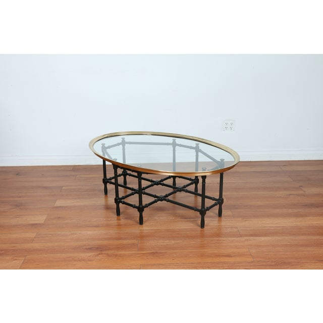 Bamboo Base Coffee Table - Image 9 of 10