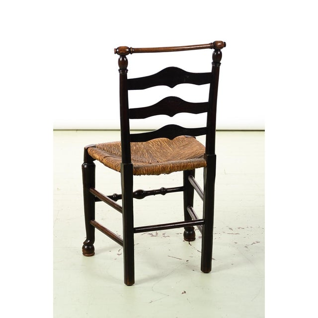Wood 18th century set of 4 Fabulous Country carved Ladder Back Chairs For Sale - Image 7 of 8