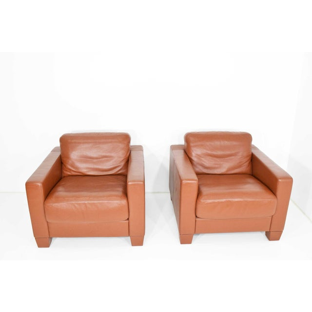 De Sede Leather Lounge Chairs- Set of 4 For Sale - Image 9 of 11