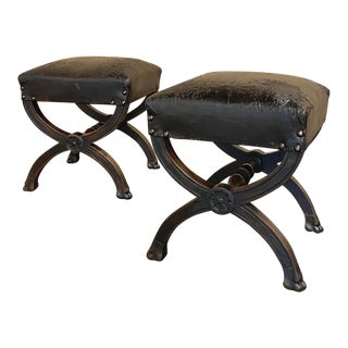 19th Century Neoclassical Stools - a Pair For Sale