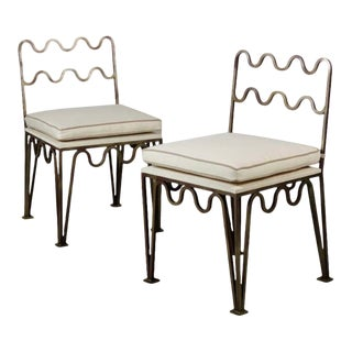 'Méandre' Side Chairs by Design Frères - a Pair For Sale