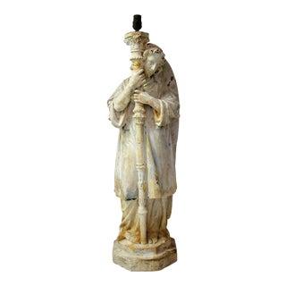 Vintage Angel Statuary Table Lamp