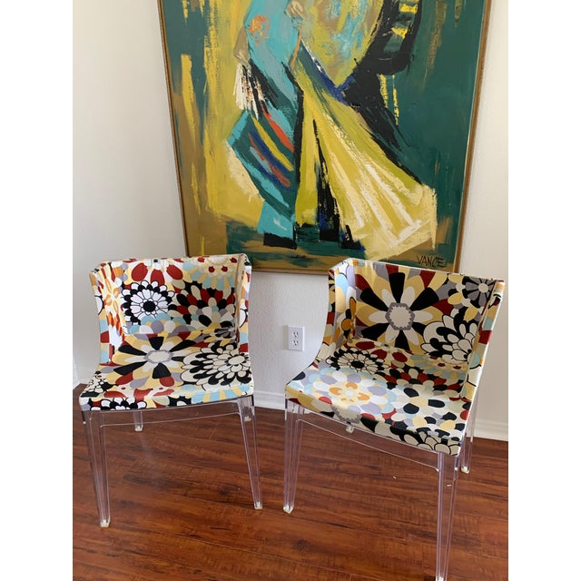 2010s Kartell Phillipe Starck Missoni Fabric Mademoiselle Chairs - a Pair For Sale - Image 5 of 9