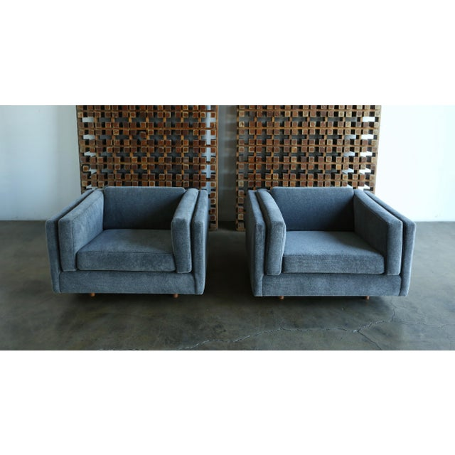 1960s Harvey Probber Grey Mohair Lounge Chairs - a Pair For Sale - Image 12 of 13
