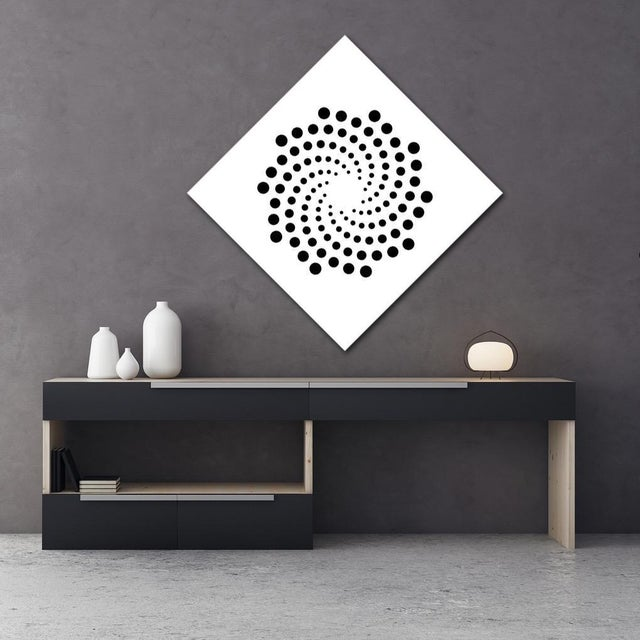 Pop Art Chuck Krause Spirals (Black & White), original three dimensional geometric wall relief 2020 For Sale - Image 3 of 4