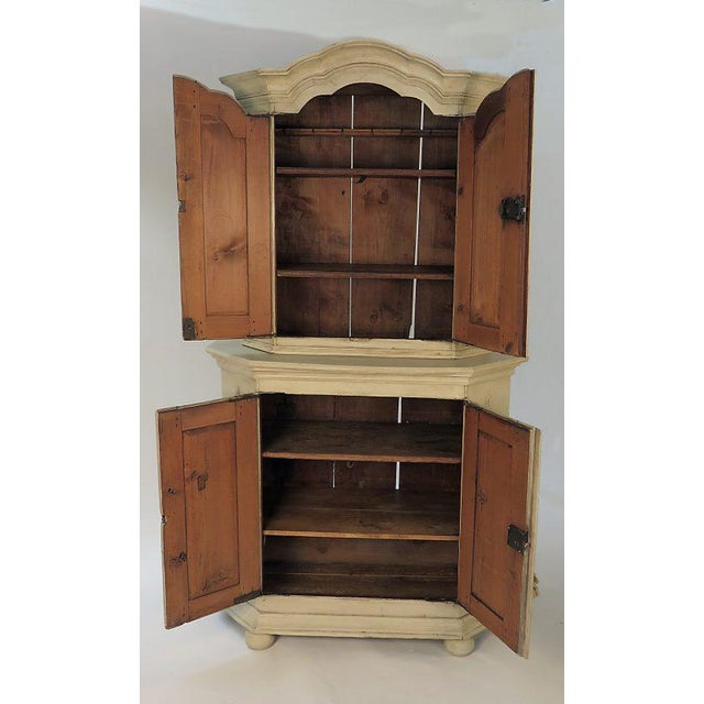 18th Century Swedish Painted Armoire For Sale - Image 4 of 5