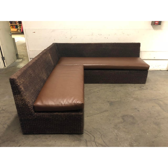 Two Piece Sectional From Walter's Wicker Works For Sale - Image 9 of 10
