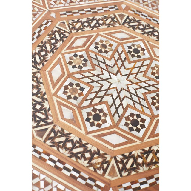 Pair of Middle Eastern Moorish Inlaid Drink Tables For Sale - Image 12 of 13