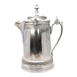1879 Rare Large Reed & Barton Silver Water Pitcher With Liner