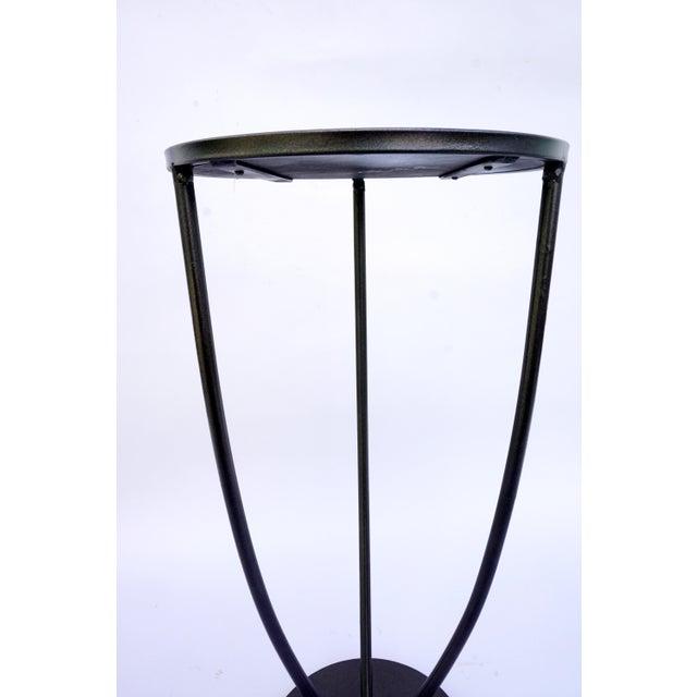 Vintage Modern Metal & Mirror Fern Stand - Image 7 of 8