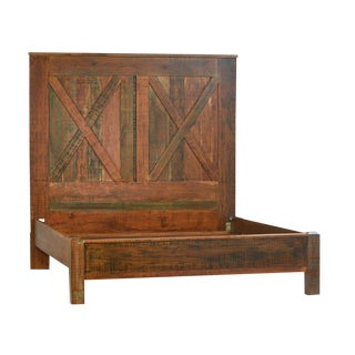 Reclaimed X Barn Style Queen Bedframe For Sale