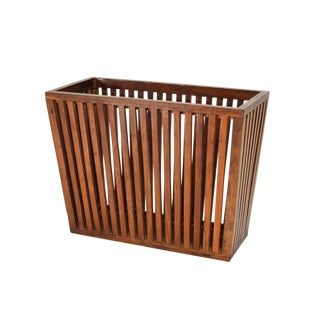 Mid Century Modern Solid Rosewood Magazine Holder For Sale