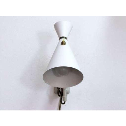 German White and Brass Scissor Lamp - Image 5 of 10