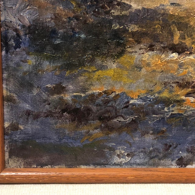 Autumn Forest Oil on Canvas Early 20th Century For Sale In Richmond - Image 6 of 11