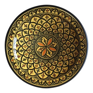"Moroccan Pottery 16"" Wall Hanging Plate For Sale"