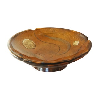 Large Artisan Studio Pottery Glazed Bowl For Sale