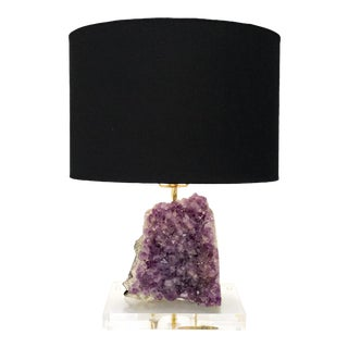 "Amethyst Table Lamp ""Serenity Lamp"" For Sale"