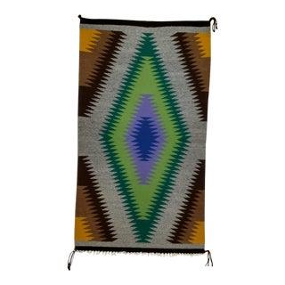 Vintage Navajo Handmade Tribal Rug - 1′9″ × 3′1″ For Sale