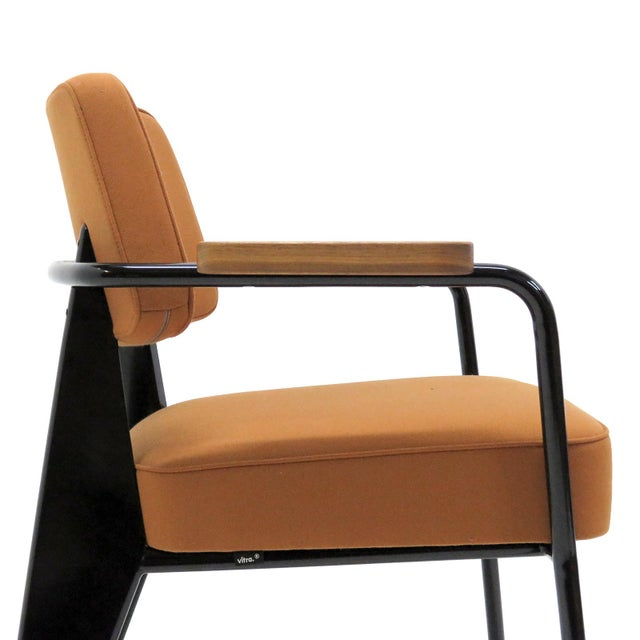 Mid-Century Modern Vitra Fauteuil Direction by Jean Prouvé Armchair For Sale - Image 3 of 11