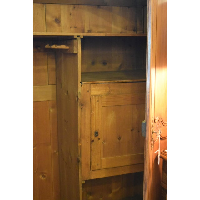 French 19th-Century French Chestnut Armoire For Sale - Image 3 of 8