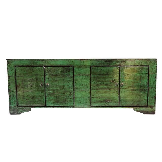 Emerald Green Mongolian Sideboard - Image 1 of 4