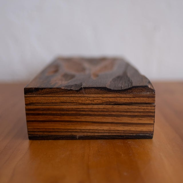 Metal Robert Trout Wood Jewelry Box With Liner, 1965 For Sale - Image 7 of 9