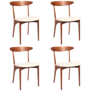 Kurt Ostervig Walnut and Leather Dining Chairs - Set of 4 For Sale