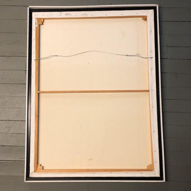 Canvas Large Vintage Original Modernist Swan Painting For Sale - Image 7 of 9