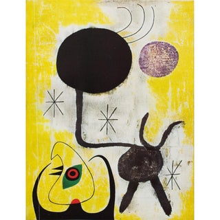 "1940s Juan Miró, ""Woman and Birds in Front of the Sun"" Original Period Swiss Lithograph Preview"