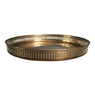 Traditional Brass Tray For Sale