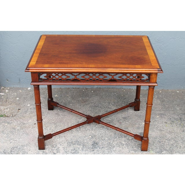 1970's Traditional Carved Wood Side Tables - A Pair - Image 6 of 11