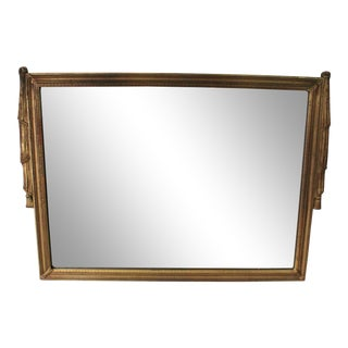 1940s Hollywood Regency Neoclassical Gold Swag Mirror For Sale