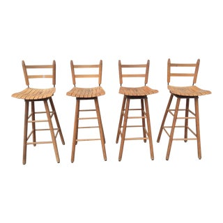 Arthur Umanoff Type Mid-Century Modern Bar Stools - Set of 4 For Sale