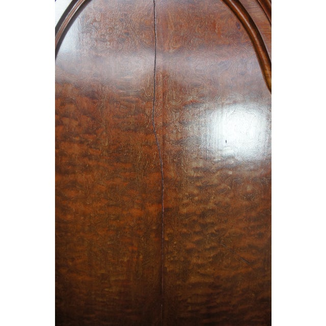 Camel Antique Victorian Carved Walnut Highback Full Bedframe For Sale - Image 8 of 13