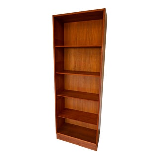 1960s Vintage Danish Teak Wood Bookcase For Sale
