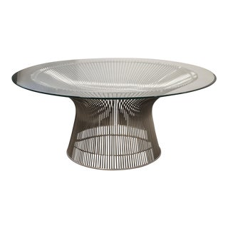 Knoll Warren Platner Glass Side Table