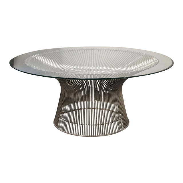 Knoll Warren Platner Glass Side Table For Sale