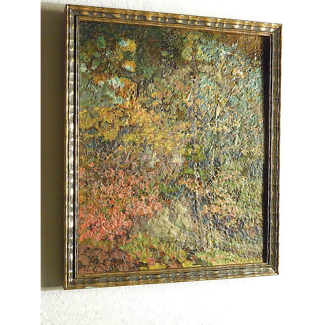Vintage Impressionist Woodland Scene-Framed For Sale - Image 4 of 6