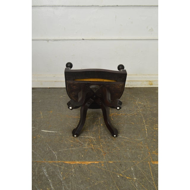Victorian Antique Mahogany Swivel Desk Chair For Sale - Image 10 of 13