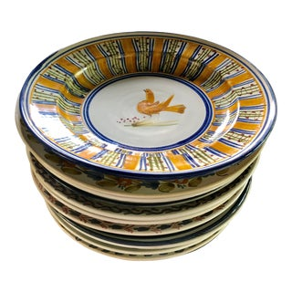 Hand-Painted Spanish Plates, Set of 12 For Sale